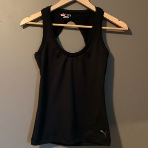 3 for $20! Puma black tank top with built in bra
